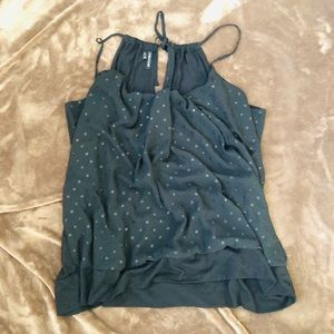 Maurices Black Chiffon Front tank